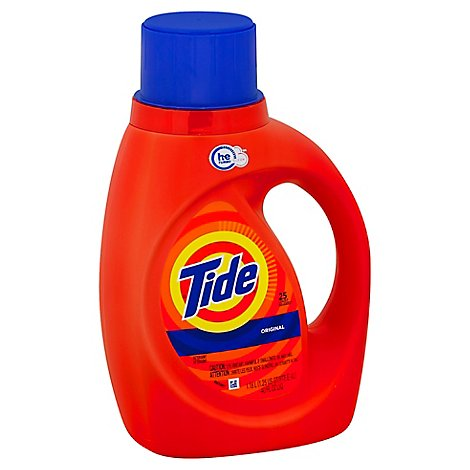 Tide Laundry Detergent Liquid HE Turbo Clean Original - 40 Fl. Oz.