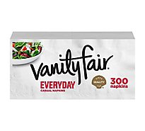 Vanity Fair Everyday Casual Napkins White Paper 2 Ply - 300 Count