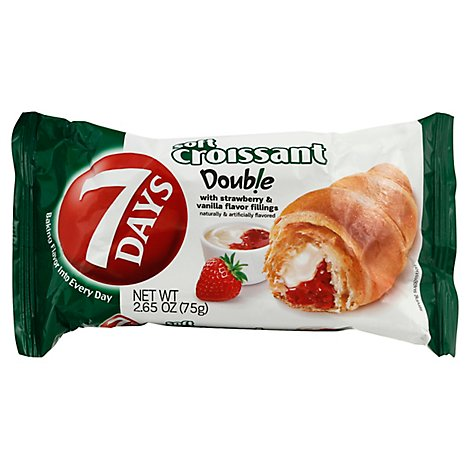 7 Days Croissant Soft With Strawberry & Vanilla Filling - 2.65 Oz