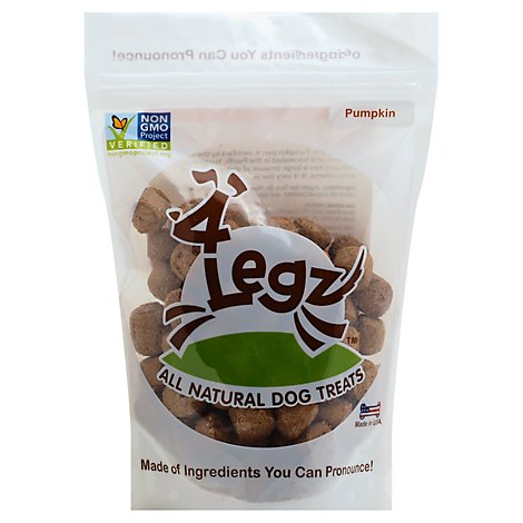 4legz Pumpkin Dog Treat - 7 Oz
