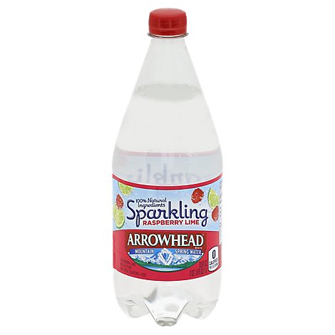 Arrowhead Sparkling Water Raspberry Lime - 1 Liter