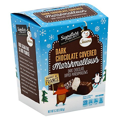 Signature SELECT Marshmallows Dark Chocolate Covered - 5.3 Oz