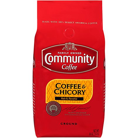 Community Coffee Ground Coffee & Chicory - 20 Oz