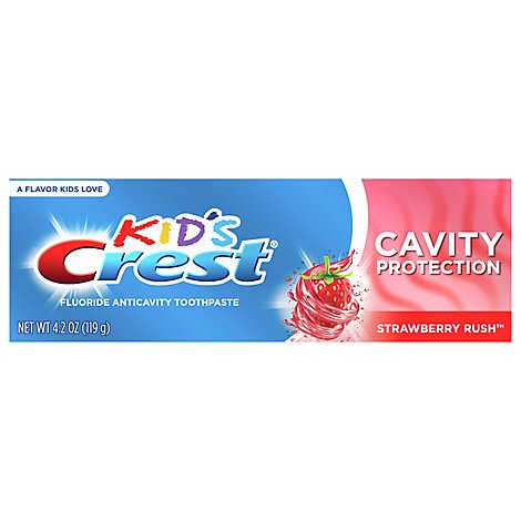 Crest Kids Toothpaste Cavity Protection Strawberry Rush Flavor - 4.2 Oz.