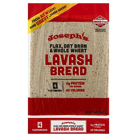 Josephs Lavash Bread Flax 4 Count - 9 Oz