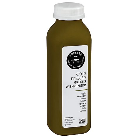 Press Juicery Sweet Greens With Ginger - 12 Fl. Oz.