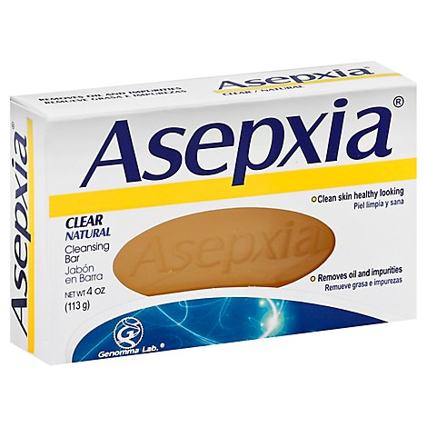 Asepxia Cleansing Bar Clear Natural - 4 Oz