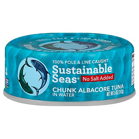 Sustainab Tuna Albcre Watr No Salt - 5 Oz