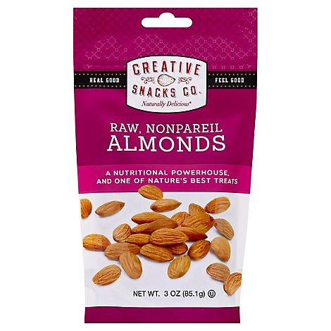Creative Snacks Almonds Raw Nonpareil - 3 Oz