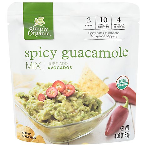 Simply Or Guacamole Dip Spicy Org - 4 Oz