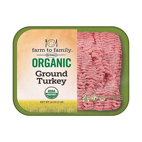 Butterball Farm To Family Organic Ground Turkey - 16 Oz ...