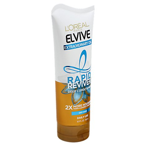 Loreal Elvive Deep Conditioner Rapid Reviver Extraordinary Oil Dry Hair - 6 Fl. Oz.