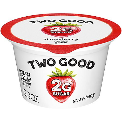 Two Good Yogurt Greek Low Fat Strawberry - 5.3 Oz
