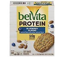 Belvita Protein Biscuits Blueberry Almond - 7.04 Oz
