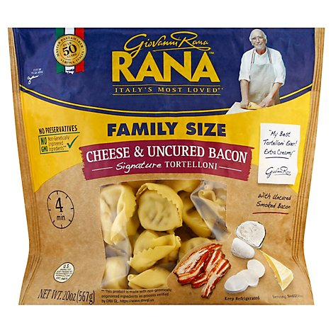 Rana Tortelloni Cheese & Uncured Bacon Family Size - 20 Oz
