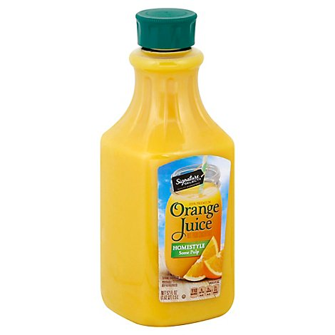 Signature SELECT Orange Juice Homestyle Some Pulp - 52 Fl. Oz.