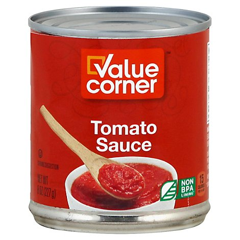 Value Corner Tomato Sauce - 8 Oz