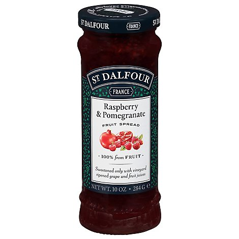 St. Dalfour Fruit Spread Red Raspberry & Pomegranate - 10 Oz