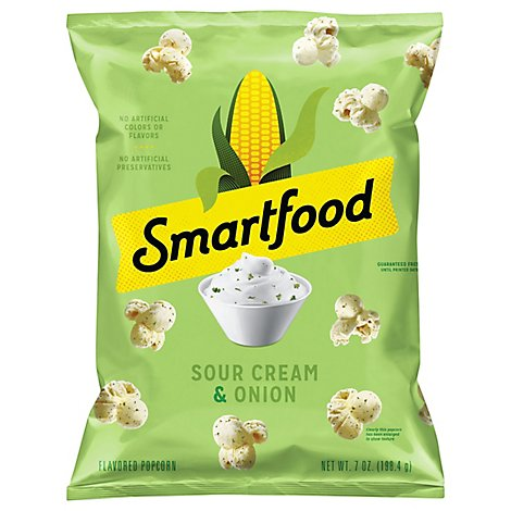 Smartfood Popcorn Sour Cream & Onion - 7 Oz