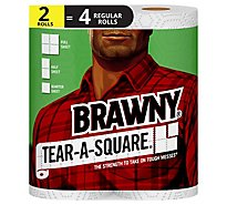 Brawny Towel 2 Tear A Square White - 2 Roll