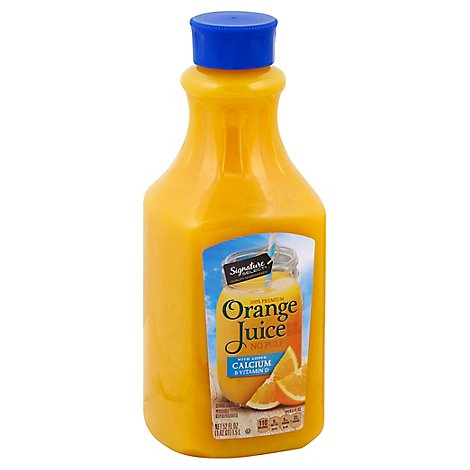 Signature SELECT Juice Orange No Pulp With Calcium - 52 Fl. Oz.