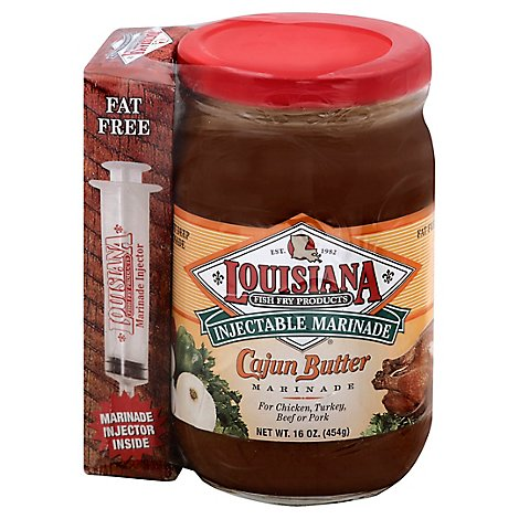 Louisiana Fish Fry Products Marinade Injectable Cajun Butter - 16 Oz