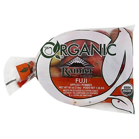 Organic Apples Fuji Prepacked - 3 Lb