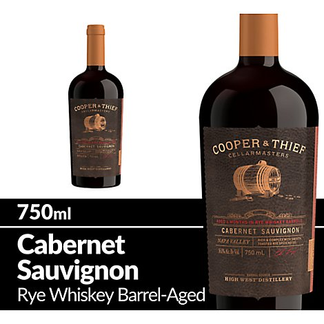 Cooper and Thief Wine Red Cabernet Sauvignon Rye Barrel Aged Napa Valley - 750 Ml