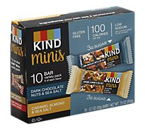 KIND Bar Minis Nuts & Spices Dark Chocolate Nuts & Caramel Almond Sea Salt Variety - 10-0.7 Oz