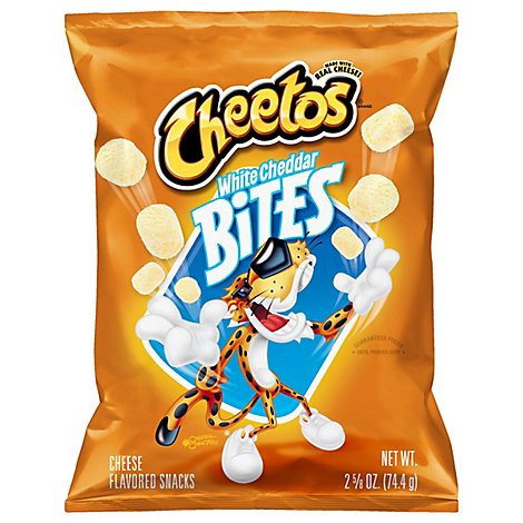 CHEETOS Snacks Cheese Flavored White Cheddar Bites - 2.62 Oz