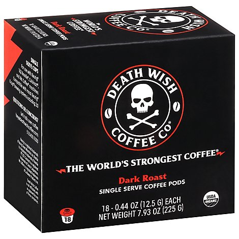 Death Wis Ss Capsules Coffee 18ct - 18 Count