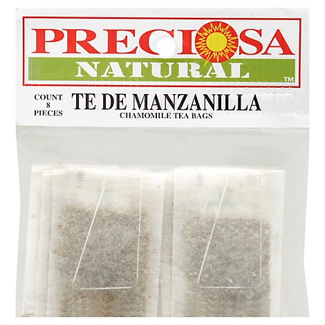 Preciosa Natural Chamomile Tea - 8 Count