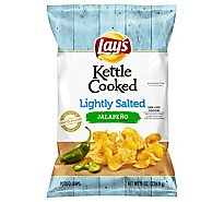 Lays Potato Chips Kettle Cooked Lightly Salted Jalapeno - 8 Oz
