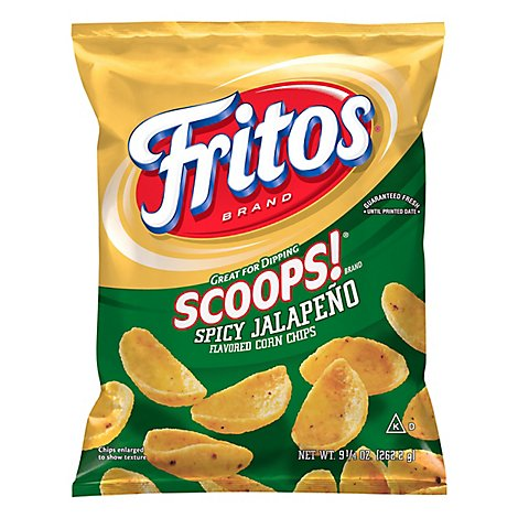 Fritos Scoops! Corn Chips Spicy Jalapeno - 9.25 Oz