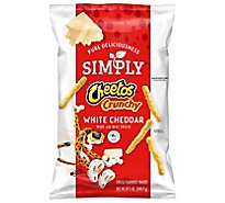 Simply Cheetos Crunchy Cheese Flavored Snacks White Cheddar - 8.5 Oz
