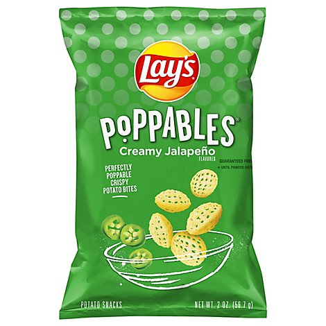 Lays Poppables Potato Snacks Creamy Jalapeno - 2 Oz