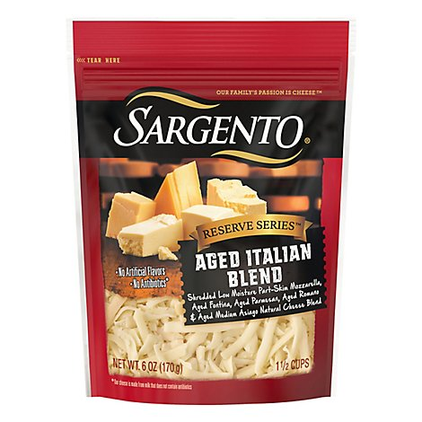 Sargento Blend Aged Italian Cheese Shreds - 6 Oz
