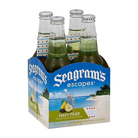 Seagrams Escapes Navy Pear - 4-11.2 Fl. Oz.