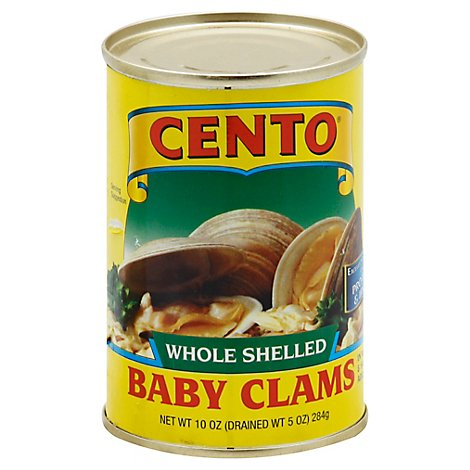 Cento Clams Baby Whole Shelled - 10 Oz