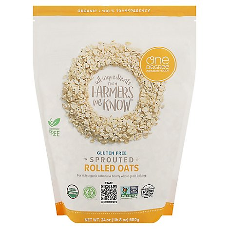 One Degre Oats Rolled Sprouted - 24 Oz