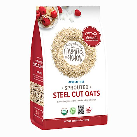One Degre Oats Steel Cut Sprouted - 24 Oz