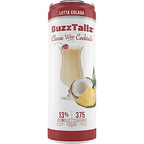 Buzz Tallz Lota Colada 24/375 Can Wine - 4-375 Ml