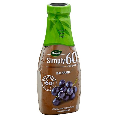 Marzetti Simply 60 Vinaigrette Balsamic Bottle - 12 Fl. Oz.