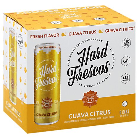 Hard Frescos Guava Citrico In Cans - 6-12 Fl. Oz.