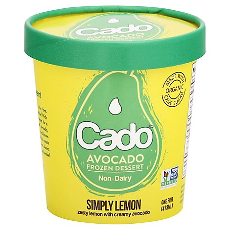 Cado Dessert Frozen Lemon Nd - 1 Pint