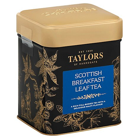Taylors of Harrogate Leaf Tea Scottish Breakfast Tin Can - 4.4 Oz