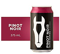 Dark Horse Red Wine Pinot Noir California In Can - 375 Ml