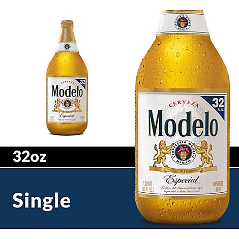 Modelo Especial Beer Mexican Lager 4.5% ABV Bottle - 32 Fl. Oz.