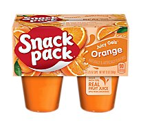 Snack Pack Juicy Gels Orange - 4-3.5 Oz