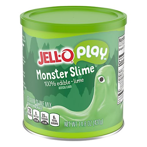 Jell-O Play Gelatin Mix Edible Slime Monster Lime - 14.8 Oz